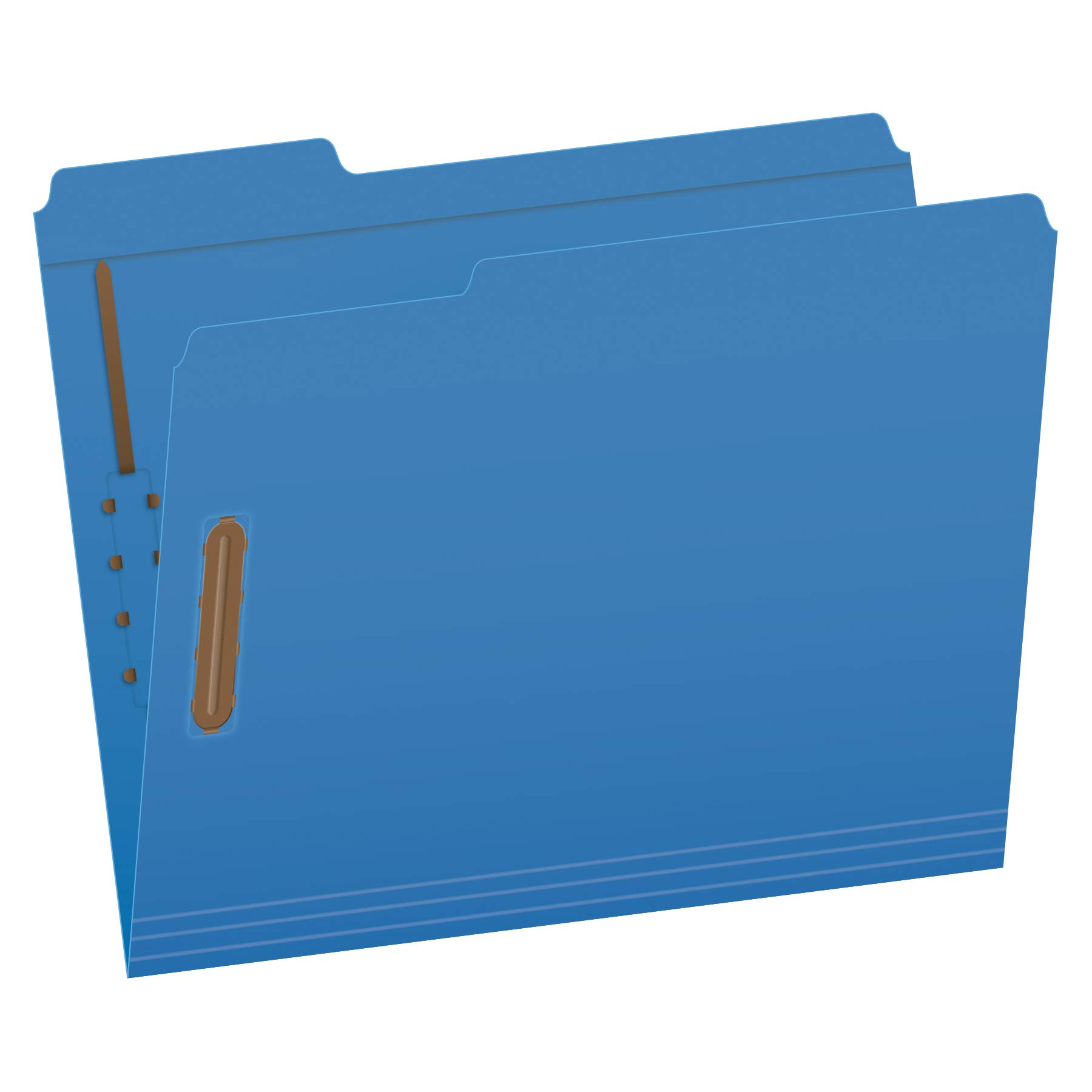 Pendaflex Fastener Folders, 2 Fasteners, Letter Size, Blue, 1/3 Cut Tabs in Left, Right, Center Positions, 50 per Box (22040GW) by Pendaflex
