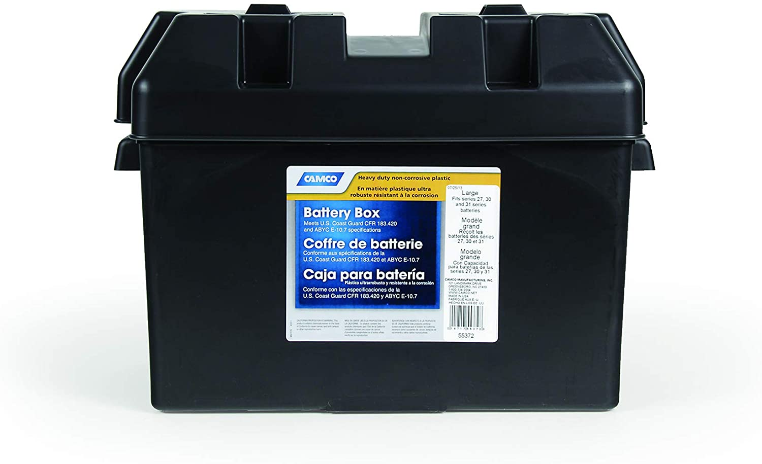 Plastic Battery Box Heavy Duty Tray Marine 24 Batteries Camper Boat Protect New