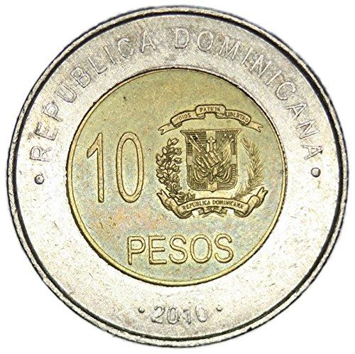 2010 DO Dominican Republic 10 Pesos Peso FAIR