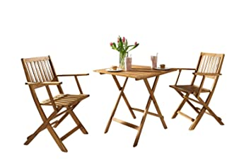 SAM -Conjunto de muebles de jardín «Chile» de 3 piezas de ...