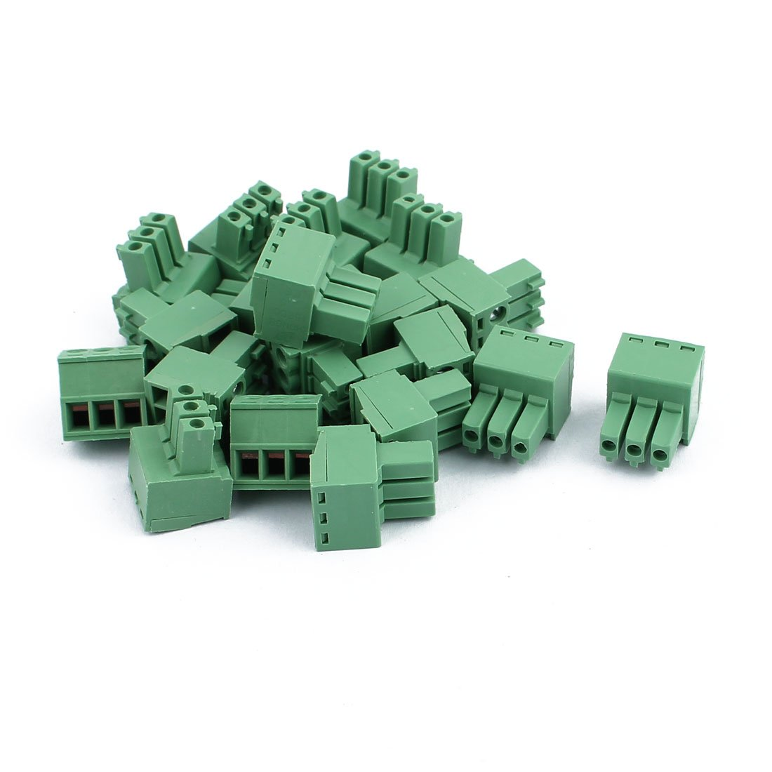 uxcell 20Pcs 300V KF2EDGK 3.5mm Pitch 3-Pin PCB Screw Terminal Block Connector
