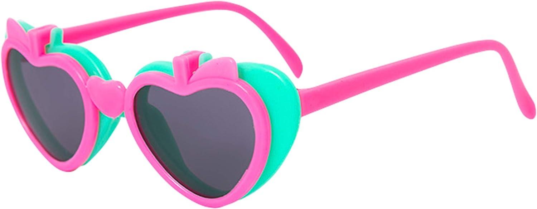DEMU Kinder Brillen Sonnenbrille Gl/äser mit Apfel-Form Lustig aufklappbar Doppel-Abdeckung