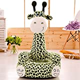 Cartoon Seats Giraffe Soft Children's Plush Chair Ideal for Children, Tatami Sofa,Ages 2 and up,17''L x 19''W x 31'' H (green)
