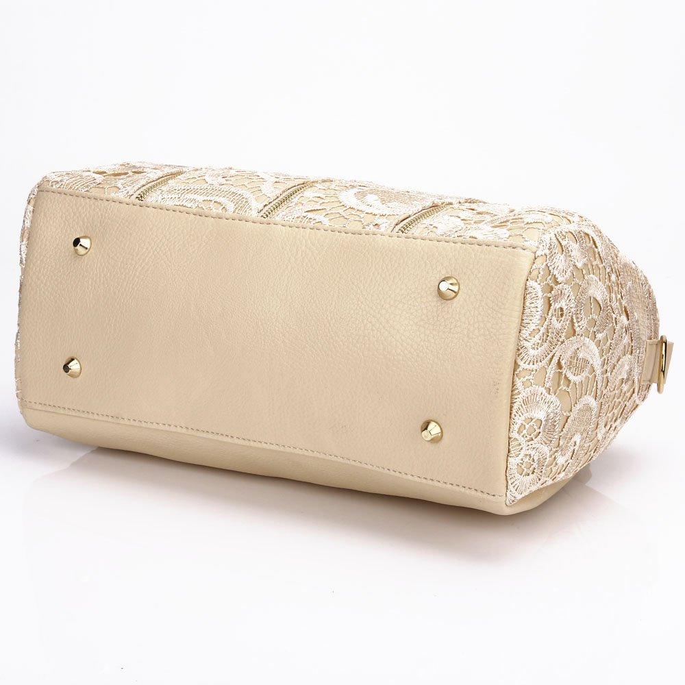 d30641b3bf00 Amazon.com  ANDI ROSE Women Designer PU Leather Tote Handbags Purses  Shoulder Clutch Hobo Bag (Beige)  Shoes