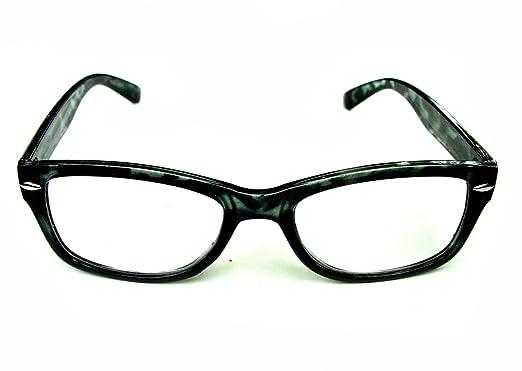 a34b6567e09f 4 PAIRS WAYFARER STYLE READING GLASSES BLACK TORTOISESHELL +2.5 RETRO LOOK  R4007  Amazon.co.uk  Clothing