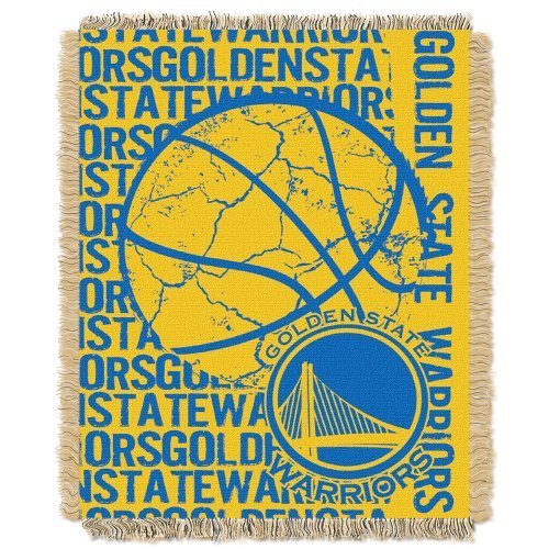 Northwest 019 NBA Golden State Warriors 48 x 60-Inch Double Play Jacquard Triple Woven Throw