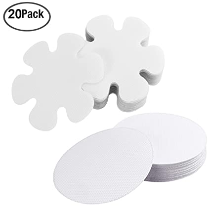 Anti Slip Strips Round Flower, Safety Shower Treads Stickers   20 Pcs,  Bathtub