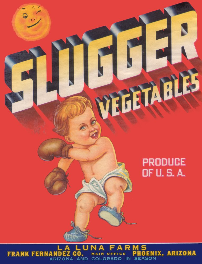 Slugger BoxingテーマVegetableラベル 24 x 36 Giclee Print LANT-1671-24x36 B00Z4UY7UK  24 x 36 Giclee Print