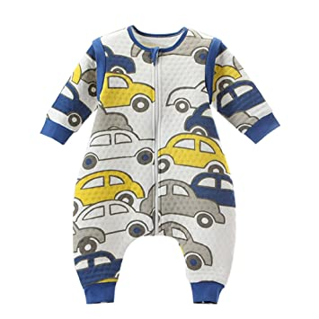 Bebé Saco de dormir Con Cremallera Piernas Separadas Mangas extraíbles,Carros M: Amazon.es: Ropa y accesorios