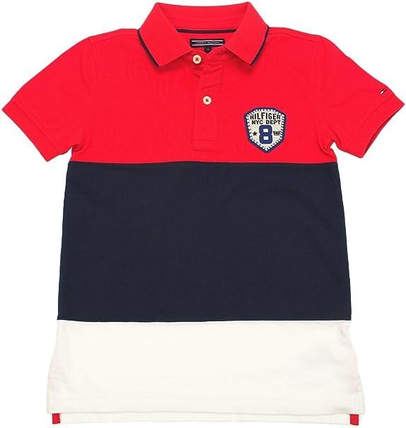Tommy Hilfiger - Cut And Sewn Polo, Niño, Color Rojo, Azul Marino ...