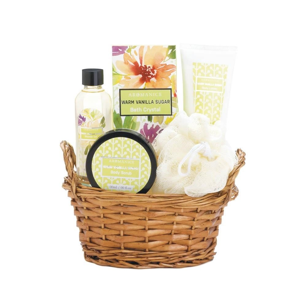 Warm and Inviting Vanilla Sugar Spa Set The Gift Basket Gallery 10017908SL