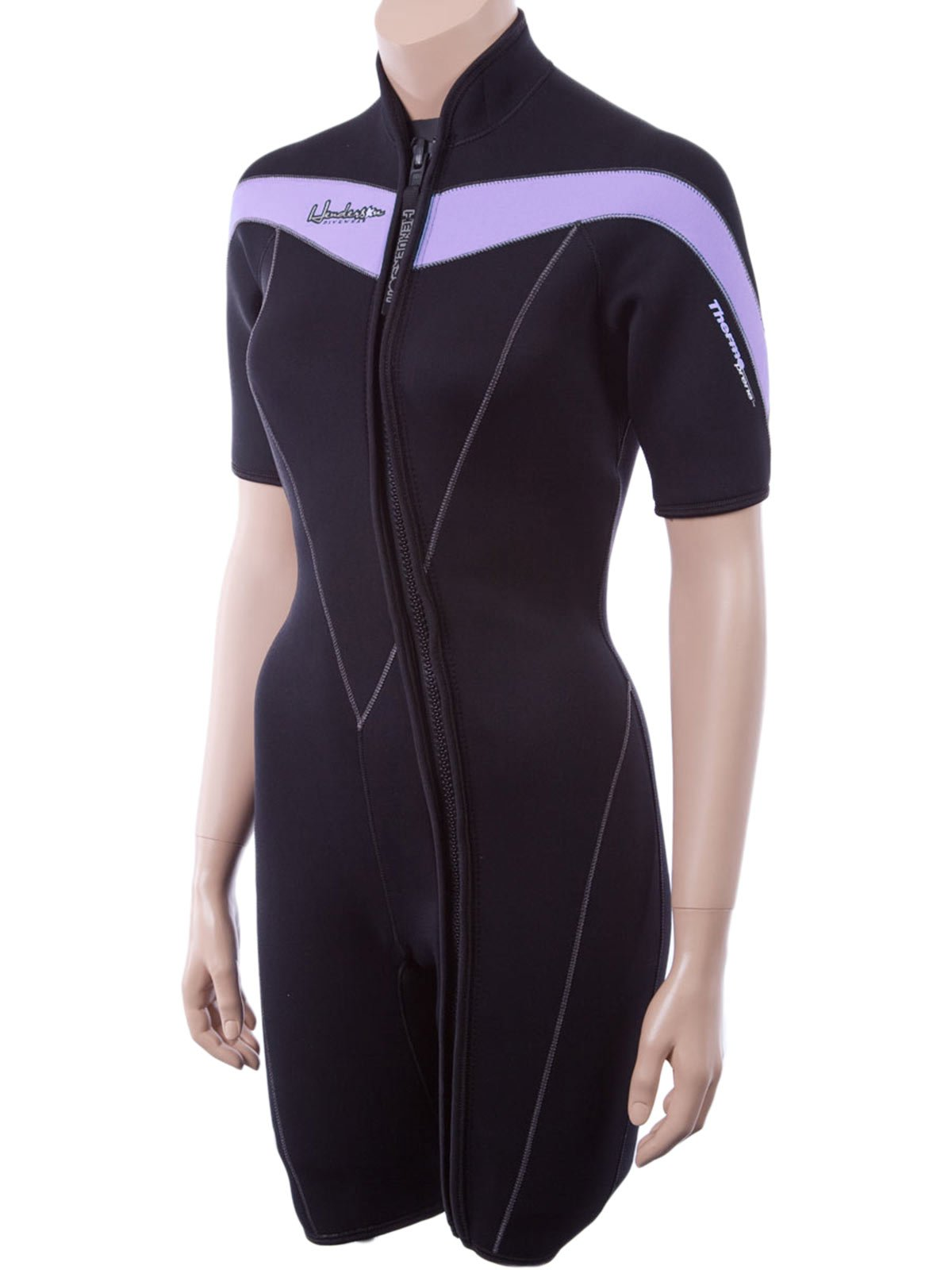 Henderson Thermoprene 3mm Womens Front Zip Wetsuit (with Plus, Tall, Petite) Women's 4 Black/Lavender by Henderson