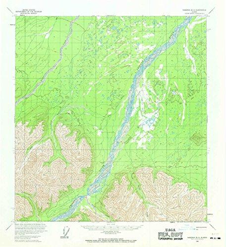 YellowMaps Nabesna B 2 AK topo map, 1:63360 scale, 15 X 15 Minute, Historical, 1960, updated 1969, 20.8 x 19 IN - (Utm 1 Edge)