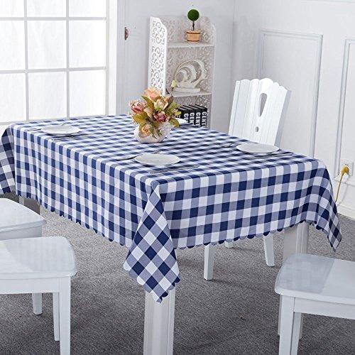 light blue gingham table cloth - 7