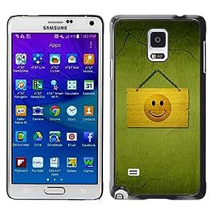 YiPhone /// Prima de resorte delgada de la cubierta del caso de Shell Armor - Hapy Smiley Area - Samsung Galaxy Note 4 SM-N910