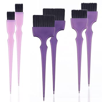 Hair Dye Coloring Brushes Kit Color Applicator Tint Brush 6 Pieces