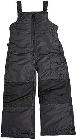 7 London Fog Boys Little Classic Heavyweight Snow Bib Ski Pant New Black