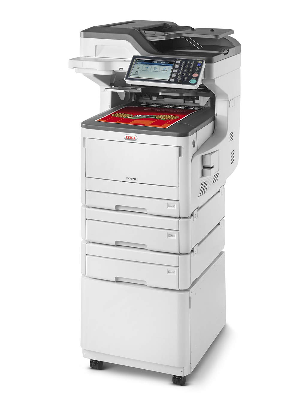OKI MC873dnct MFP Drucker Duplex A3/ A4 Print Scan Copy fax 45850621