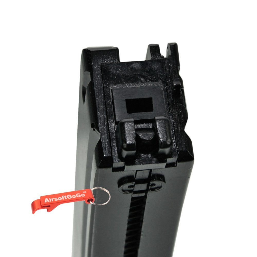 WE 45rds Gas Cargador para WE APACHE MP5 MP5K MP5A2 Airsoft GBB AirsoftGoGo Llavero Incluido