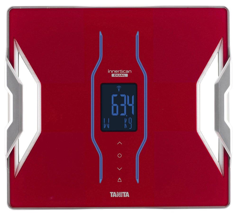 タニタ 体組成計 スマホ 日本製 ホワイト RD-906 WH 医療分野の技術搭載/スマホでデータ管理 インナースキャンデュアル B01N41WXFI レッド  レッド