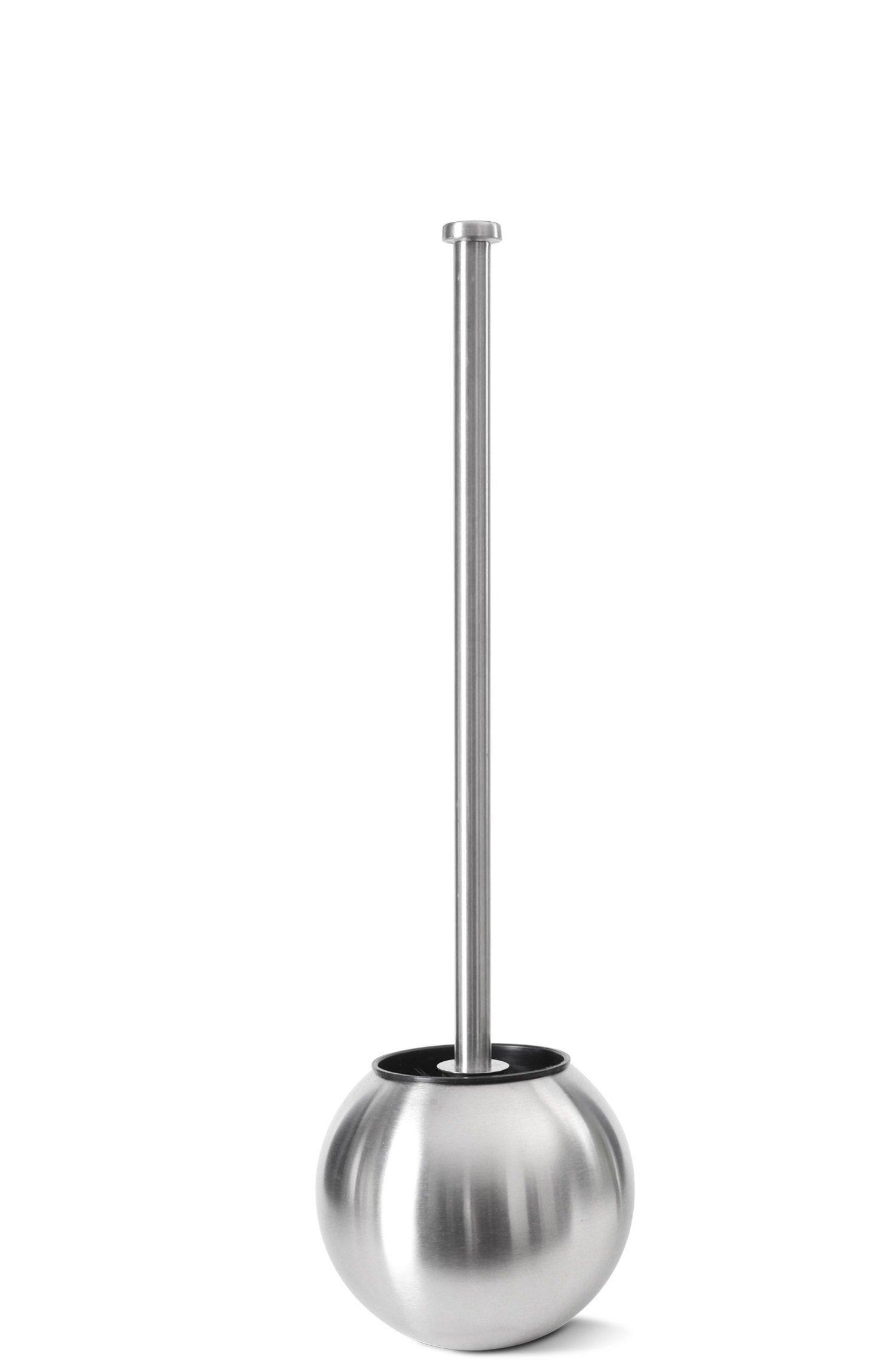 Hem Varor Stylish Round Stainless Steel Toilet Brush and Holder (Medium) 19.5 inch