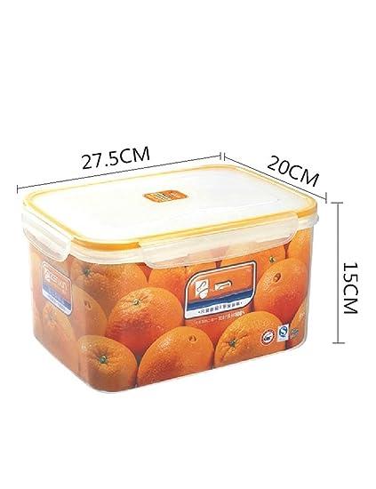 Para frutas y verduras Caja de almacenamiento de alta capacidad Caja sellada Refrigeradores de cocina Cajas