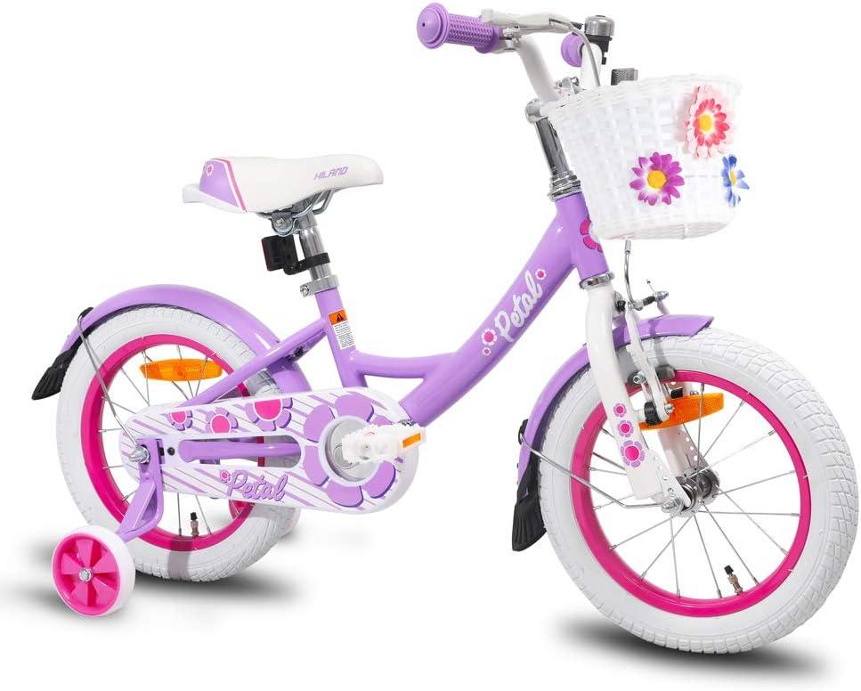 HILAND Petal Starry - Bicicleta infantil de 14,16 pulgadas, color ...