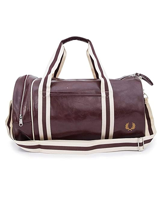 Fred Perry Classic Barrel Hombre Holdall Granate
