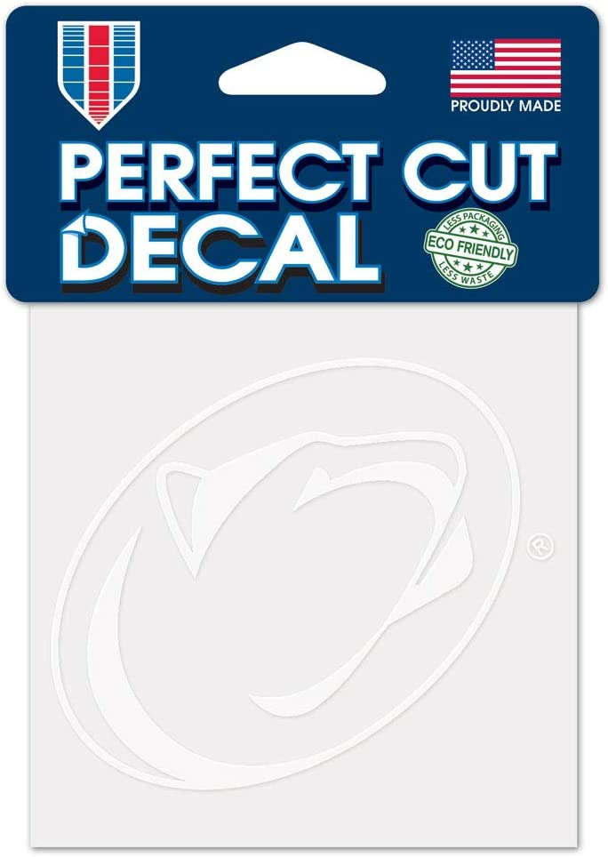 WinCraft NCAA Penn State Nittany Lions 4x4 Perfect Cut White Decal, One Size, Team Color