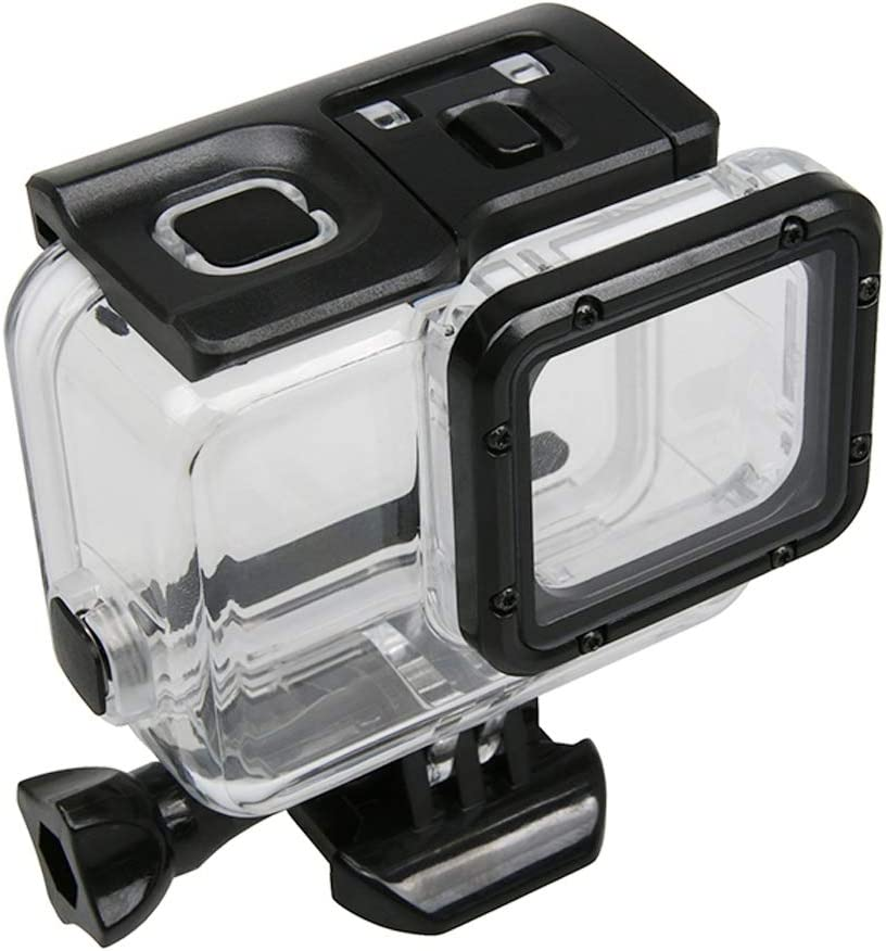 No Need to Remove Lens Durable CAOMING for GoPro New Hero //HERO6//5 Touch Screen 45m Waterproof Housing Protective Case with Buckle Basic Mount /& Screw