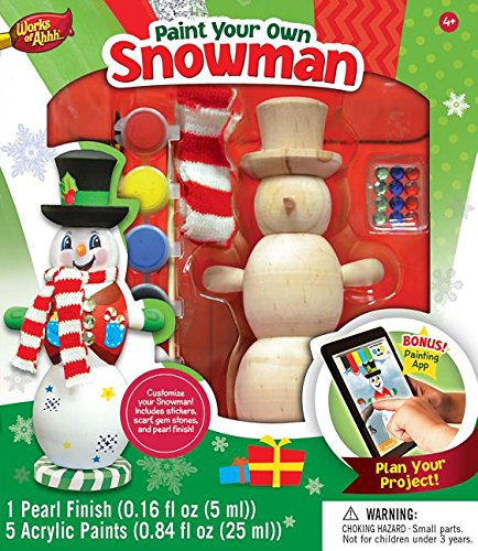 MasterPieces Works of Ahhh Winter Snowman Large Wood Paint (Christmas Projects For Toddlers)