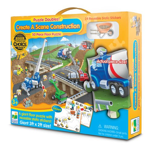 The Learning Journey Puzzle Doubles, Create A Scene Construction (Construction Scene)