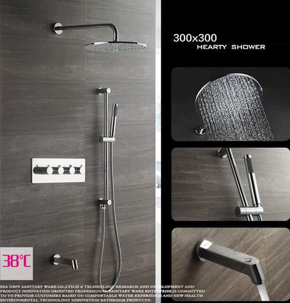 シャワー蛇口高級シャワーシステムスイッチ多層電気メッキプロセスシャワーヘッド壁掛けシャワーシステム B07QVCCJR4