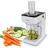 Electric Food Spiralizer Slicer Chopper - 3-in-1 Vegetable Processor, Fruit Cutter, Spiral Shredder Machine, Veggie…