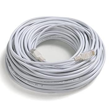 TRIXES Rollo de 30 Metros de Cable de Red - Cable Conector a Red LAN Ethernet