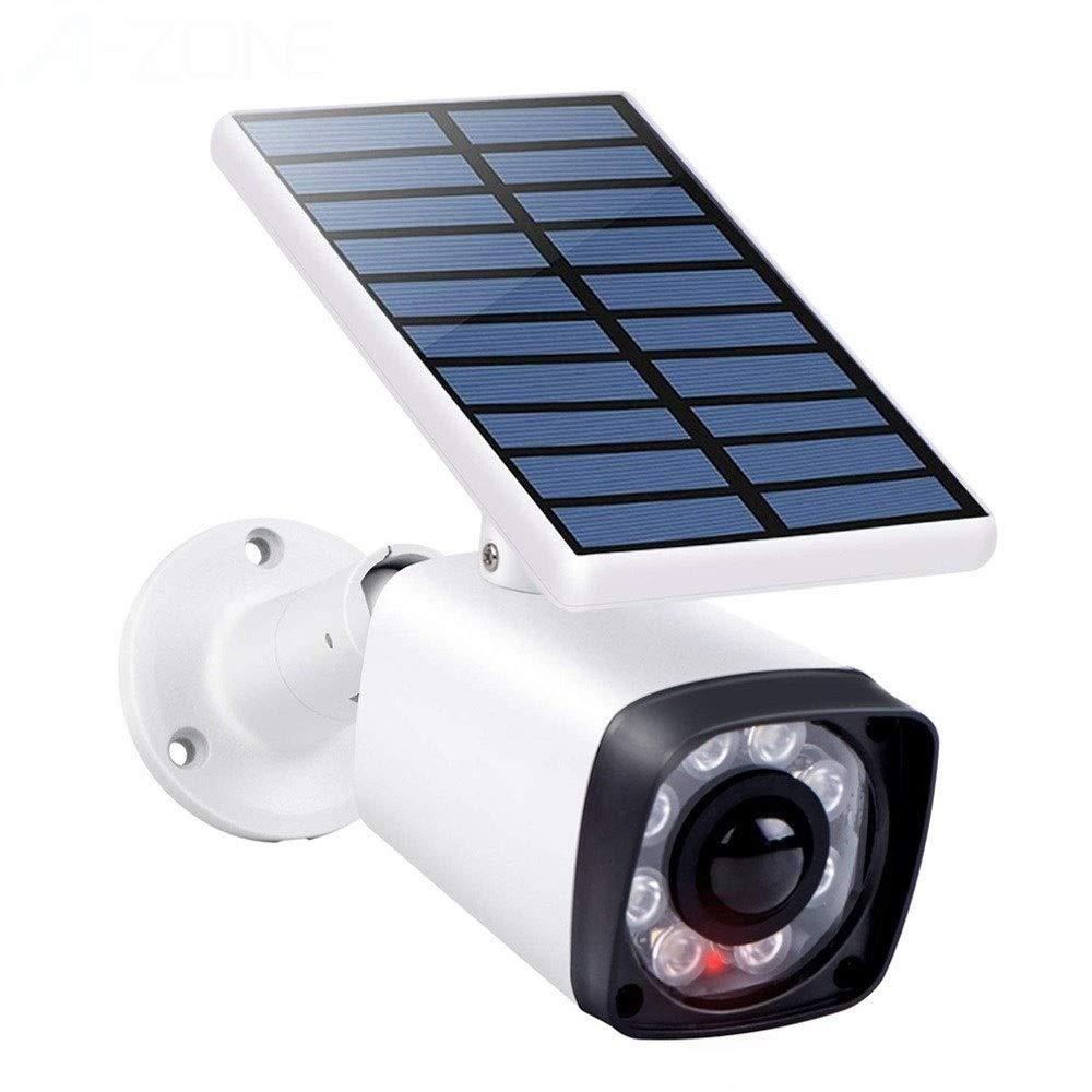 LBBZJM Fake Dummy Imitation CCTV Security Camera Outdoor Indoor Solar Battery LED Light PIR Motion Sensor False Camera by LBBZJM