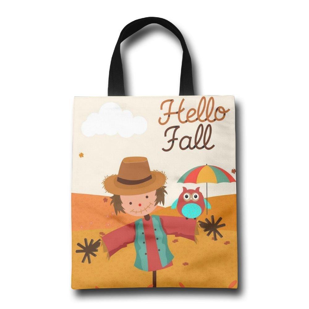 homlife Hello Fall Seasonパターン再利用可能なバッグ耐久性折りたたみ式トートバッグfor旅行、ショッピング、ノートパソコン、学校Books   B077BPF8L5