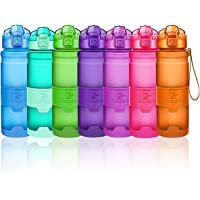 Bouteilles d'eau sport, 400ml/500ml/700ml/1L gourdes eau, réutilisable tritan plastique, sans bpa & anti-fuite   grande bouteille fitness pour randonnée, voyager, yoga, gym, gourde ouvrir en 1 clic