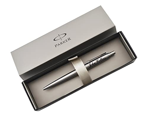 Parker Jotter Ballpoint Pen STAINLESS STEEL Personalised Gift ENGRAVED Your Message FREE ENGRAVING