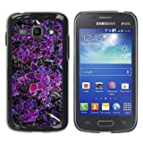 LASTONE PHONE CASE / Slim Protector Hard Shell Cover Case for Samsung Galaxy Ace 3 GT-S7270 GT-S7275 GT-S7272 / Cool Purple Tropic Green Spring