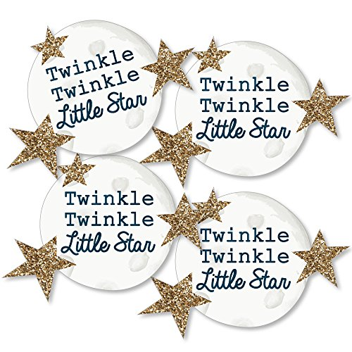 Twinkle Twinkle Little Star - Moon and Star Decorations DIY Baby Shower or Birthday Party Essentials - Set of 20 ()
