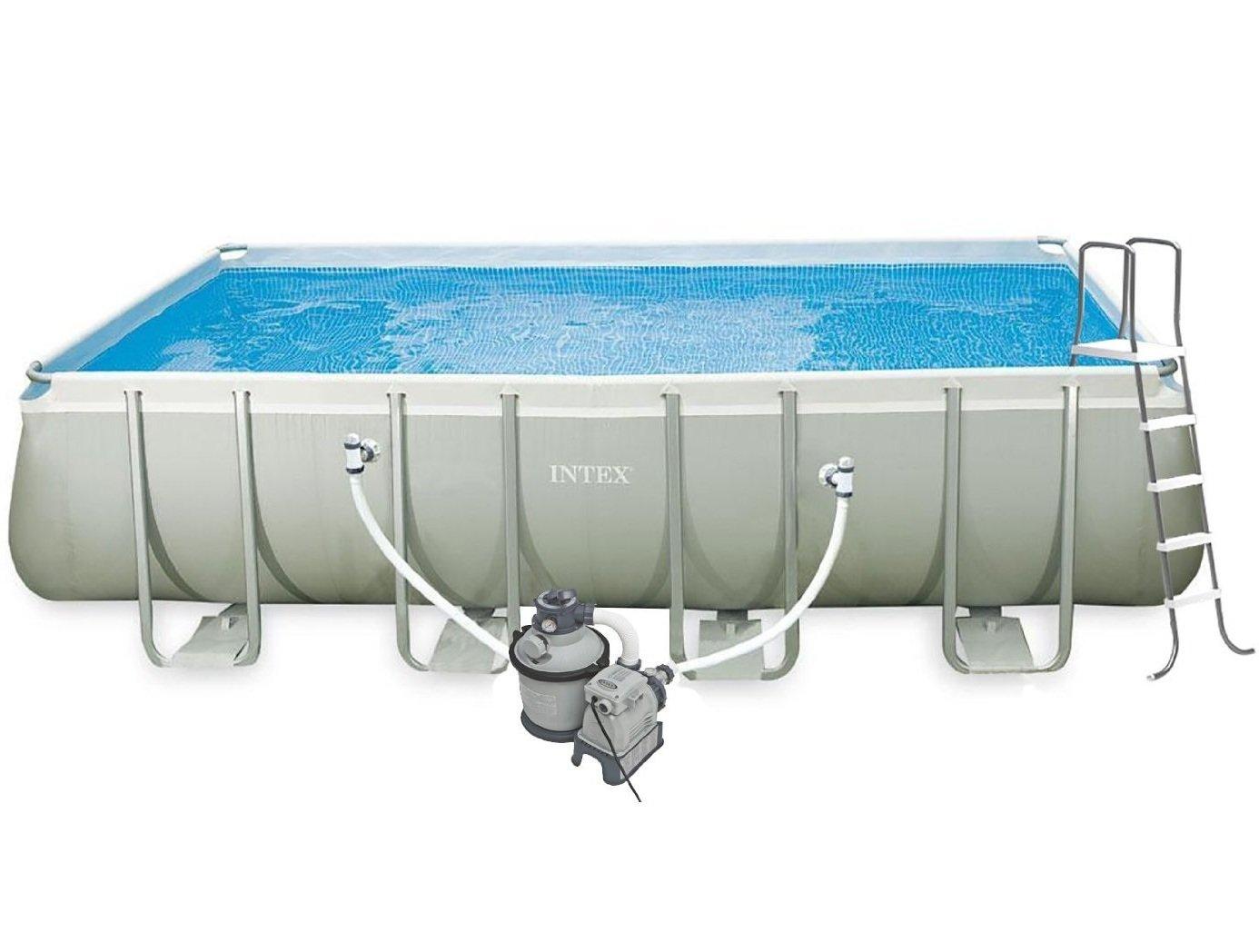Intex Ultra Frame rectangular Piscina Agua salada 9 \'x 18\' X 52 \