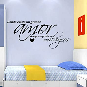 Kililaya Spanish Quote Word Pattern Living Room Bedroom Wall Sticker Home Family Decor Decal Art Graphic