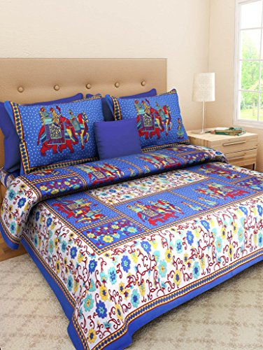 4ccfc86cc57 Suraaj Fashion Jaipuri Cotton Double Bedsheets With 2 Pillow Covers. by Suraaj  Fashion