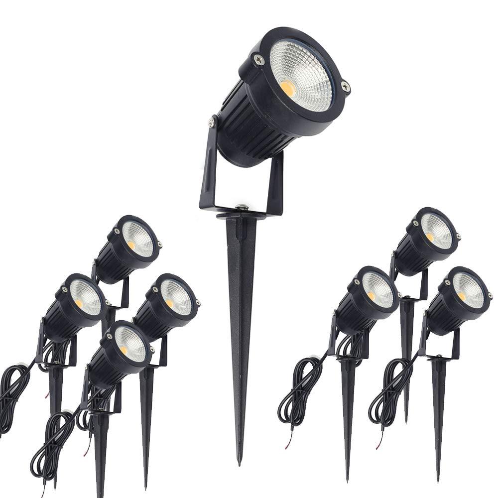 ALEDECO Outdoor Led Landscape Lights 12V 5W Low Voltage Waterproof Garden Pathway Tree Spotlight (8 Pack)
