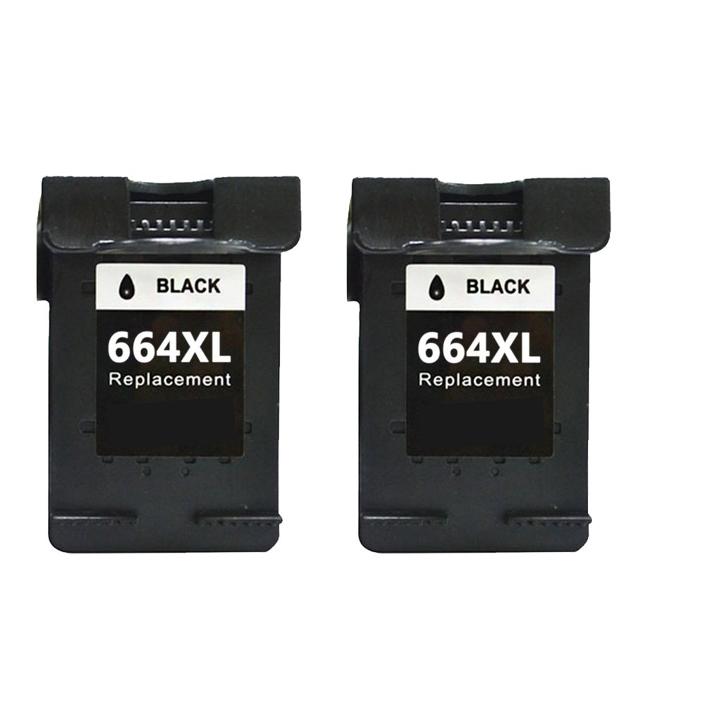 Tyjtyrjty 2x ( 2Black) Compatible For Ink Cartridge 664 xl For hp 664 Cartridge For HP DeskJet 1115 2135 3635 1118 2138 3636 3638 4536 4676 for hp664