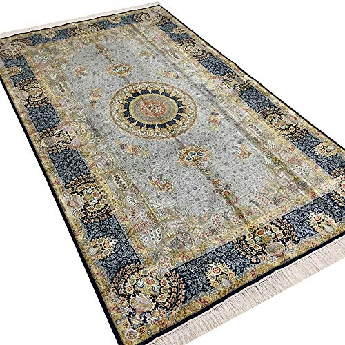 Camel Carpet Hand Woven Silk Persian Home Carpet ()