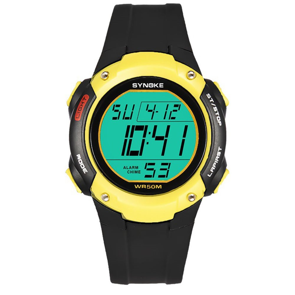 856store Big Promotion Sports Men Alarm Chronograph Date Waterproof Luminous Digital Wrist Watch Gift