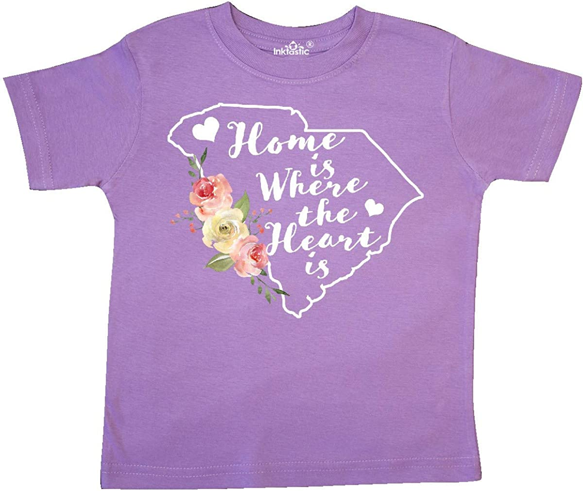 inktastic South Carolina Home is Where The Heart is with Toddler T-Shirt