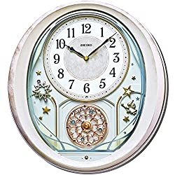 Seiko Twinkle & Magic Bright Star Melodies in Motion Wall Clock, Silver